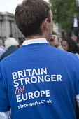 Yes To Europe rally, Trafalgar Square, London - Philip Wolmuth - 2010s,2016,EU,Europe,European Union,London,male,man,men,NUS,people,person,persons,POL,political,POLITICIAN,POLITICIANS,Politics,rallies,rally,referendum,Remain,student,students,Young,younger,Youth