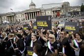 Amnesty International suffragettes join memorial event for murdered Labour MP, Jo Cox. Love Like Jo Trafalgar Square, London - Jess Hurd - 22-06-2016