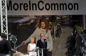 Memorial event to celebrate the life of murdered Labour MP Jo Cox. Love Like Jo, Trafalgar Square, London. Actor Gillian Anderson speaking at the event with fellow actor Bill Nighy by her side - Stefano Cagnoni - 2010s,2016,ACTING,Actor,ACTORS,actress,actresses,COMMEMORATE,COMMEMORATING,commemoration,COMMEMORATIONS,death,deaths,died,FEMALE,grief,grieving,Jo Cox,kill,killed,killing,Labour MP,Labour Party,London