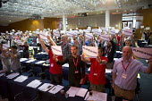 RMT and ASLEF delegates, LoveWins in support of the Orlando victims and Jo Cox MP, TUC LGBT Conference, Congress House, London - Jess Hurd - 23-06-2016