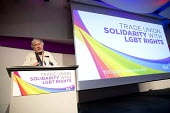 Guy Thornton, NUJ delegate speaking TUC LGBT Conference, Congress House, London. - Jess Hurd - 23-06-2016