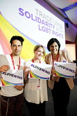 Giovanni Bienne, Amy Forest and Hamida Ali, Equity delegates TUC LGBT Conference, Congress House, London. - Jess Hurd - 23-06-2016