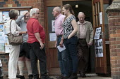 High turn out of voters, referendum on membership of the European Union, vote Remain or Leave, Polling Station, Wellesbourne, Warwickshire - John Harris - 23-06-2016