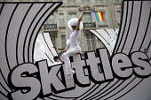 Skittles float, Pride in London Parade 2016 - Jess Hurd - 2010s,2016,ACE,activist,activists,banner,banners,CAMPAIGN,campaigner,campaigners,CAMPAIGNING,CAMPAIGNS,Culture,DEMONSTRATING,Demonstration,DEMONSTRATIONS,equal,float,Gay,Gays,Homosexual,HOMOSEXUALITY,