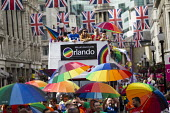 We All Stand With Orlando, HSBC bus at Pride in London Parade 2016 - Jess Hurd - 25-06-2016