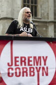 Tosh McDonald, ASLEF speaking Keep Corbyn, Build Our Movement rally against Blairite leadership challenge Parliament Square, Westminster, London - Jess Hurd - 27-06-2016