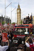 Jeremy Corbyn speaking Keep Corbyn, Build Our Movement rally against Blairite leadership challenge Parliament Square, Westminster, London - Jess Hurd - 27-06-2016