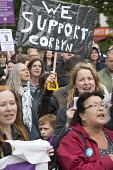 Keep Corbyn rally of supporters against Blairite leadership challenge, Bristol - Paul Box - 2010s,2016,activist,activists,against,campaign,campaigner,campaigners,campaigning,CAMPAIGNS,DEMONSTRATING,Demonstration,DEMONSTRATIONS,FEMALE,Jeremy Corbyn,Labour Party,leadership,Left,left wing,Leftw