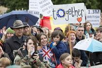 Pro EU membership demonstration Bristol - Paul Box - 2010s,2016,activist,activists,campaign,campaigner,campaigners,campaigning,CAMPAIGNS,DEMONSTRATING,Demonstration,DEMONSTRATIONS,EU,Europe,European Union,FEMALE,people,person,persons,placard,placards,Pr
