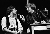 Maydays by David Edgar by RSC, The Barbican Theatre, London 1983. Anthony Sher (L) and Bob Peck (R) - Stefano Cagnoni - 1980s,1983,ACE,act,acting,actor,actors,Arts,cities,city,Culture,drama,DRAMATIC,entertainment,historical drama,London,May day,play,PLAYING,plays,political,RSC,stage,Theatre,THEATRES,urban