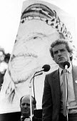 Sabra-Shatila Massacre 1983 London Ernie Ross MP speaking, Protest in London in support of the Palestinian people on the first anniversary of the 1982 massacre at the Sabra and Shatila refugee camps i... - Stefano Cagnoni - 1980s,1983,activist,activists,anniversary,camp,CAMPAIGN,campaigner,campaigners,CAMPAIGNING,CAMPAIGNS,camps,DEMONSTRATING,demonstration,DEMONSTRATIONS,Erniie Ross,Gordon McLennan,israel-Palestine,Labou