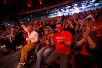 Momentum, KeepCorbyn Labour Party rally for Jeremy Corbyn, Troxy, East London. - Jess Hurd - 2010s,2016,applauding,applause,campaign,campaigning,CAMPAIGNS,East London,KeepCorbyn,Labour Party,Left,left wing,Leftwing,London,Momentum,Party,Pol,political,POLITICIAN,POLITICIANS,Politics,rallies,ra