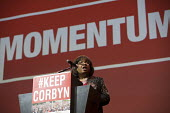 Diane Abbott MP speaking at a Momentum, KeepCorbyn Labour Party rally for Jeremy Corbyn, Troxy, East London. - Jess Hurd - 2010s,2016,BAME,BAMEs,Black,BME,bmes,campaign,campaigning,CAMPAIGNS,Diane Abbott,diversity,East London,ethnic,ethnicity,FEMALE,KeepCorbyn,Labour Party,Left,left wing,Leftwing,London,minorities,minorit