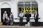 Shoppers and BHS Store Stratford-upon-Avon Warwickshire. 11,000 jobs go as the department store closes - John Harris - 07-07-2016
