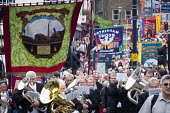 Durham Miners Gala 2016 Co Durham Brass bands and banners - Mark Pinder - 2010s,2016,bands,banner,banners,Brass Band,County Durham,Durham Miners Gala,Jeremy Corbyn,member,member members,members,MINER,Miners,MINER'S,NUM,people,POL,political,POLITICIAN,POLITICIANS,Politics,Tr