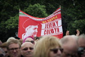Jeremy Corbyn supporters, Durham Miners Gala 2016, Co Durham - Mark Pinder - 2010s,2016,banner,banners,County Durham,Durham Miners Gala,Jeremy Corbyn,Labour Party,Left,left wing,Leftwing,member,member members,members,MINER,Miners,MINER'S,NUM,people,POL,political,POLITICIAN,POL