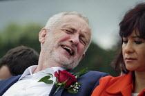 Jeremy Corbyn Durham Miners Gala 2016, Co Durham - Mark Pinder - 2010s,2016,County Durham,Durham Miners Gala,funny,Humor,HUMOROUS,HUMOUR,Jeremy Corbyn,joking,laugh,laughing,laughter,member,member members,members,MINER,Miners,MINER'S,MP,MPs,NUM,people,POL,political,