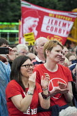 Jeremy Corbyn supporters, Durham Miners Gala 2016, Co Durham - Mark Pinder - 2010s,2016,applauding,applause,County Durham,Durham Miners Gala,Jeremy Corbyn,Labour Party,Left,left wing,Leftwing,member,member members,members,MINER,Miners,MINER'S,NUM,people,person,persons,POL,poli