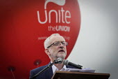 Jeremy Corbyn speaking, Durham Miners Gala 2016, Co Durham - Mark Pinder - 2010s,2016,balloon,balloons,County Durham,Durham Miners Gala,Jeremy Corbyn,member,member members,members,MINER,Miners,MINER'S,MP,MPs,NUM,people,POL,political,politician,politicians,Politics,SPEAKER,SP