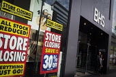 Closure of British Home Stores. Closing down, stock clearance posters, Newcastle Upon Tyne - Mark Pinder - 22-06-2016