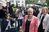 Angela Eagle, Labour MP for Wallasey, arriving at a press conference launching her leadership bid. Prominent Labour women applauding at a press conference launching her bid to become Leader of the Lab... - Stefano Cagnoni - 11-07-2016
