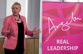 Angela Eagle Labour Party launching her leadership bid. Prominent Labour women applauding at a press conference launching her bid to become Leader of the Labour Party, London, 2016 - Stefano Cagnoni - 2010s,2016,Angela Eagle,Angela Eagle MP,applauding,APPLAUSE,conference,conferences,Eagle,equal,FEMALE,flag,flags,Gay,Gays,Homosexual,HOMOSEXUALITY,Homosexuals,Labour Party,launch,launching,Leader,lead