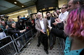 Jeremy Corbyn outside Labour Party HQ after NEC meeting agreed to include him on ballot for leadership challenge, London - Jess Hurd - 2010s,2016,ballot paper,camera,cameras,campaign,campaigning,CAMPAIGNS,challenge,communicating,communication,DEMOCRACY,election,elections,FEMALE,greeting,Headquarters,HQ,Jeremy Corbyn,Labour,Labour Par