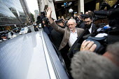 Jeremy Corbyn outside Labour Party HQ after NEC meeting agreed to include him on ballot for leadership challenge, London - Jess Hurd - 2010s,2016,ballot paper,broadcast,broadcasting,camera,cameras,campaign,campaigning,CAMPAIGNS,challenge,communicating,communication,DEMOCRACY,election,elections,filming,Headquarters,HQ,Husting,hustings