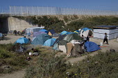 Migrants shelters Calais refugee camp The Jungle France. - Jess Hurd - 08-08-2015