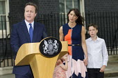 David Cameron and his family leaving 10 Downing Street as he resigns as Prime Minister, Westminster, London - Jess Hurd - 10 Downing Street,2010s,2016,boy,boys,child,CHILDHOOD,children,CONSERVATIVE,Conservative Party,conservatives,David Cameron,families,family,female,females,girl,girls,juvenile,juveniles,kid,kids,leaving