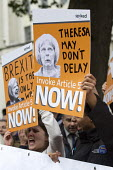 Spiked pro Brexit protest as Theresa May enters 10 Downing Street as the new Prime Minister, Westminster, London. Invoke Article 50 now - Jess Hurd - 13-07-2016