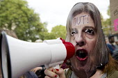 Protestors as Theresa May is entering 10 Downing Street as the new Prime Minister, Westminster, London. - Jess Hurd - 13-07-2016