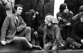Young people sitting and talking in Trafalgar Square, London, 1966 - Patrick Eagar - 02-07-1966