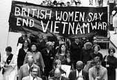 Demonstration against the Vietnam War, Hyde Park, London, 1967, British women say end the Vietnam war at the front of the march - Romano Cagnoni - 1960s,1967,activist,activists,against,anti,anti war,Antiwar,anti-war,banner,banners,CAMPAIGN,campaigner,campaigners,CAMPAIGNING,CAMPAIGNS,cities,City,DEMONSTRATING,Demonstration,DEMONSTRATIONS,female,