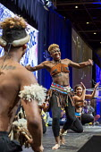 Detroit, Michigan - Step Afrika! a step dance ensemble, performing at the SEIU convention - Jim West - ,2010s,2016,ACE,African American,African Americans,African dance,African-American,America,american,americans,Arts,BAME,BAMEs,BEMM,BEMMs,black,BME,bmes,conference,conferences,Culture,dance,dancer,dance