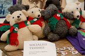 Socialist Teddies for Jeremy Corbyn, Left Unity stand at Tolpuddle Martyrs' Festival 2016. Dorset. - Jess Hurd - 17-07-2016