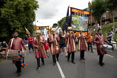 GMB marchers Tolpuddle Martyrs' Festival 2016. Dorset. - Jess Hurd - 2010s,2016,ACE,banner,banners,Dorset,Festival,FESTIVALS,GMB,melody,member,member members,members,music,MUSICAL,musical instrument,musical instruments,musician,musicians,PEOPLE,play,player,players,play