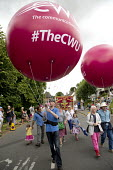 CWU balloon at Tolpuddle Martyrs Festival 2016. Dorset. - Jess Hurd - 2010s,2016,ACE,balloon,balloons,CWU,Dorset,Festival,FESTIVALS,member,member members,members,PEOPLE,SWTUC,Tolpuddle Martyrs festival,Tolpuddle Martyrs' Festival,trade union,trade union,trade unions,tra