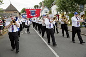 NASUWT marching Tolpuddle Martyrs' Festival 2016. Dorset. - Jess Hurd - 2010s,2016,ACE,bands,banner,banners,Brass Band,Dorset,Festival,FESTIVALS,marching,melody,member,member members,members,music,MUSICAL,musical instrument,musical instruments,musician,musicians,NASUWT,PE
