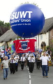 NASUWT marching Tolpuddle Martyrs Festival 2016. Dorset. - Jess Hurd - 2010s,2016,ACE,balloon,balloons,bands,banner,banners,Brass Band,Dorset,Festival,FESTIVALS,marching,melody,member,member members,members,music,MUSICAL,musical instrument,musical instruments,musician,mu