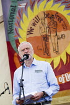 Jeremy Corbyn speaking Tolpuddle Martyrs' Festival 2016, Dorset - Jess Hurd - 2010s,2016,ACE,banner,banners,Dorset,Festival,FESTIVALS,Jeremy Corbyn,Labour Party,member,member members,members,PEOPLE,SPEAKER,SPEAKERS,speaking,SPEECH,SWTUC,Tolpuddle Martyrs festival,Tolpuddle Mart