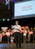 Owen Smith MP speaking at a campaign rally to become Leader of the Labour Party, Emmanuel Centre, Westminster, London - Stefano Cagnoni - 2010s,2016,biblical quotation,campaign,campaigning,CAMPAIGNS,Labour Party,Leader,leadership,London,MP,MPs,Owen Smith,Party,POL,political,politician,politicians,Politics,rallies,rally,SPEAKER,SPEAKERS,
