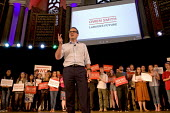 Owen Smith MP speaking at a campaign rally to become Leader of the Labour Party, Emmanuel Centre, Westminster, London - Stefano Cagnoni - 2010s,2016,biblical quotation,campaign,campaigning,CAMPAIGNS,fingers,Labour Party,Leader,leadership,London,MP,MPs,Owen Smith,Party,POL,political,politician,politicians,Politics,rallies,rally,SPEAKER,S