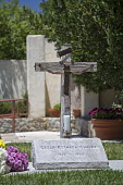Keene, California, Grave of United Farm Workers leader Cesar E. Chavez - Jim West - &,2010s,2016,BAME,BAMEs,Belief,BME,bmes,California,Catholic,catholicism,Catholics,cemeteries,cemetery,Cesar E. Chavez,christian,christianity,christians,conviction,cross,crucifix,crucifixes,dead,death,