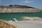 Las Vegas, Nevada drought. The water level in Lake Mead has fallen 150 feet and is now at 37% of capacity due to drought in the West. Due to shallow water, the boat launch ramp at Echo Bay is open onl... - Jim West - 22-06-2016