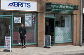 Brits Barber shop next to European Mini Market, Stratford upon Avon, Warwickshire - John Harris - 27-07-2016