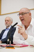 Dave Ward, CWU Gen Sec announcing Jeremy Corbyn as nominated candidate in the Labour leadership contest, Hamilton House, London. - Jess Hurd - 2010s,2016,candidate,CANDIDATES,contest,CWU,Dave Ward,Hamilton House,House,houses,Jeremy Corbyn,Labour Party,leadership,London,member,member members,members,nominated,people,POL,political,POLITICIAN,P