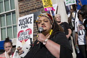 Zita Holbourne speaking Five years since the Tottenham Riots the Mark Duggan Justice Campaign Day of Action, Remembrance and Community Healing protest from Broadwater Farm to Tottenham Police Station,... - Jess Hurd - 06-08-2016