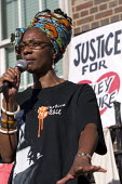 Marcia Rigg, sister of Sean Rigg speaking. Five years since the Tottenham Riots the Mark Duggan Justice Campaign Day of Action, Remembrance and Community Healing protest from Broadwater Farm to Totten... - Jess Hurd - 06-08-2016