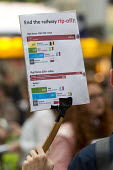 Southern Rail passengers take a petition calling for fair fares and compensation to the Department of Transport, Westminster, Victoria Station, London - Jess Hurd - 11-08-2016